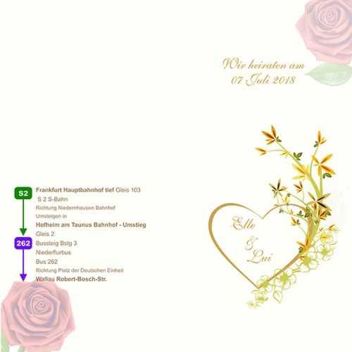 Hochzeitskarte-Beispiel